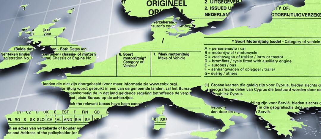 De groene kaart: niet verplicht, maar wel nodig